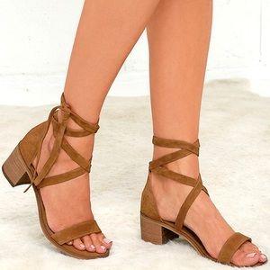 Steve Madden Rizzaa Brown Suede Sandals
